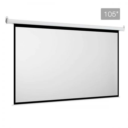 Electric projector screen 266cm crazy sales for Motorized projector screen reviews