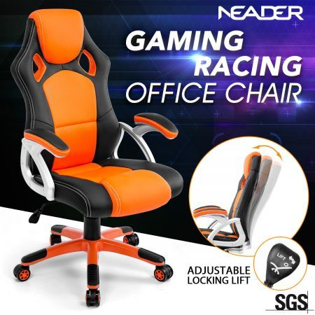 Racing Office Computer Home Gaming Chair-Orange/Black
