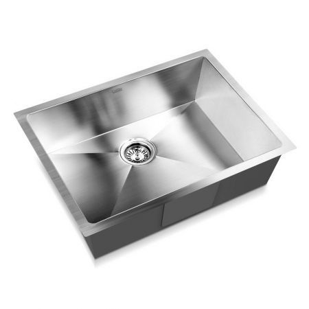 Cefito Stainless Steel Kitchen Sink 600X450MM Under/Topmount Sinks Laundry Bowl Silver