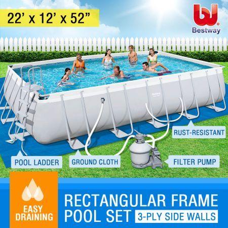 Bestway Steel Frame Above Ground Swimming Pool Crazy Sales