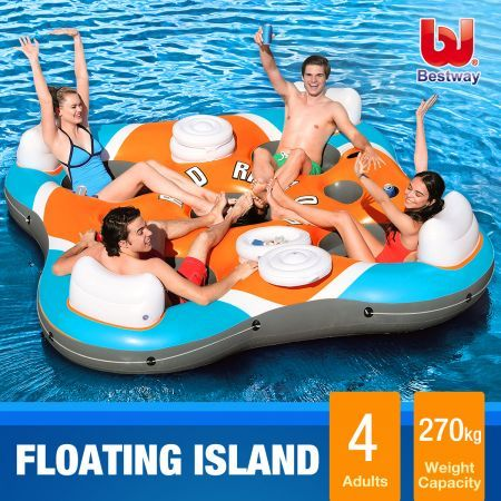 Bestway Rapid Rider X4 Island Floating Device