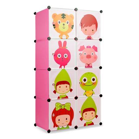 Tupper Cabinet 8 Cubes Kids DIY Storage Bookshelf Pink