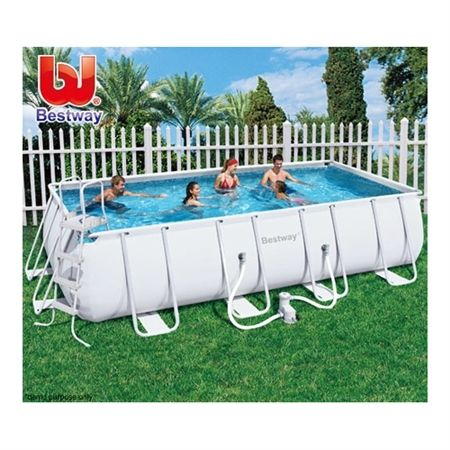 Bestway extra large steel frame above ground swimming pool crazy sales for Consumer reviews above ground swimming pools