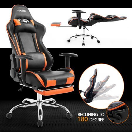 High Back Gaming Office Chair Sports Racing Recliner Seat