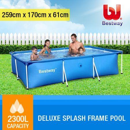 bestway deluxe splash frame large outdoor pool crazy sales. Black Bedroom Furniture Sets. Home Design Ideas