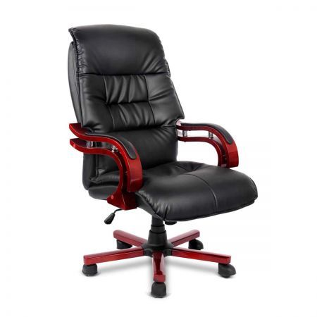 pu leather and wood deluxe office chair crazy sales. Black Bedroom Furniture Sets. Home Design Ideas