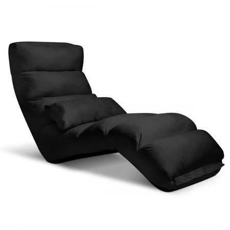 Lounge Sofa Chair - 75 Adjustable Angles - Black