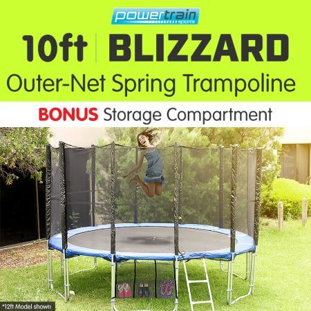 Powertrain Blizzard 10ft Trampoline with Net - Blue