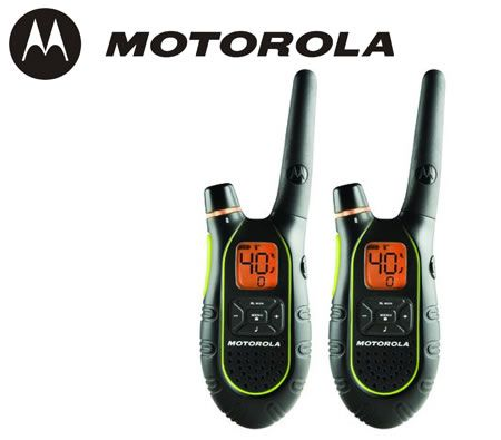 Motorola SX709R Talkabout 2-Way UHF-CB Radios - Twin Pack with Charger &  Rechargeable Batteries