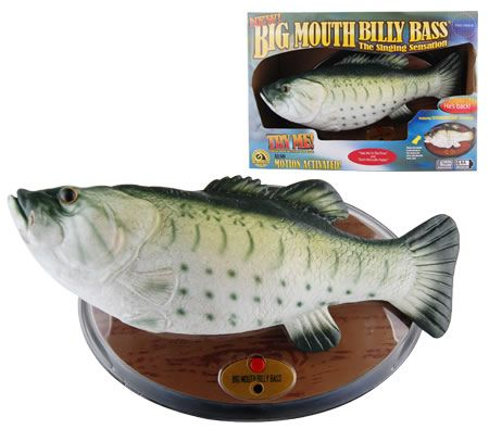 Big mouth billy bass toy crazy sales for Talking fish on wall