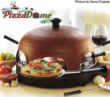 PizzaDome - Portable Italian Brick Pizza Oven Fondue Set