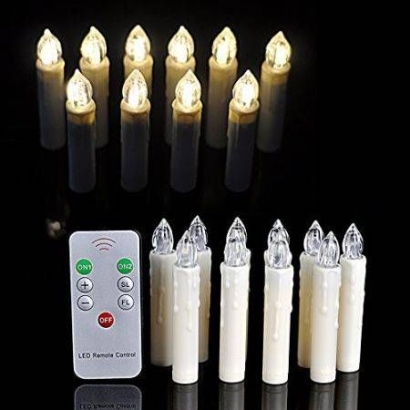 Battery Powered Remote Control LED Flameless Holiday Christmas ...