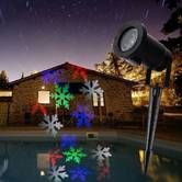 Waterproof Automatically LED Moving Snowflakes Spotlight Lamp Snowflakes LED Projection Christmas Decoration Light