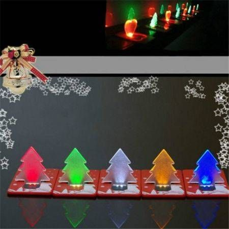 5pcs Folding Card Lamp Cute LED Light Christmas Tree Gift Greeting Cards