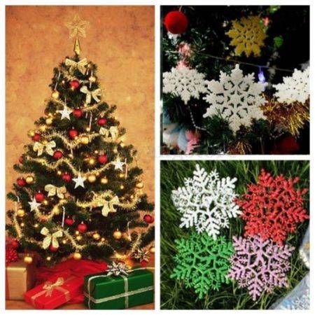 12Pcs Xmas Ornaments Christmas Snowflake