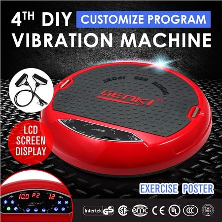 Genki 4th DIY Ultra Slim Vibration Machine Platform Red