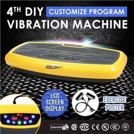Genki 4th DIY Ultra Slim Vibration Machine Platform Yellow