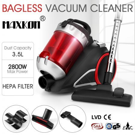 3.5L Multi-Cyclonic Bagless Vacuum Cleaner w/ HEPA Filter
