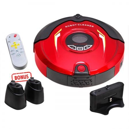 5 in 1 AC Robot Vacuum Cleaner 100-240V - Red