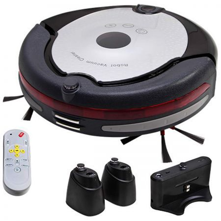 5 in 1 AC Robot Vacuum Cleaner 100-240V - Silver