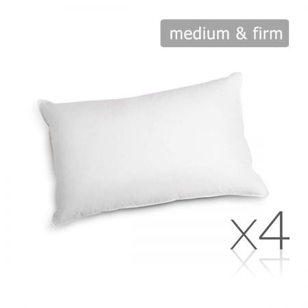 Set of 4 Pillows - 2 Firm and 2 Medium