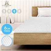6 CM Queen Size Egg Crate Foam Mattress Topper Underlay Protector