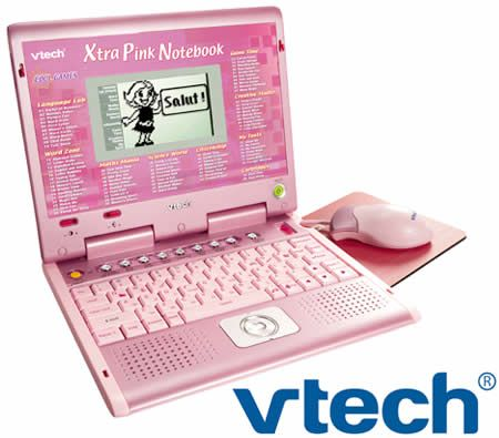VTech Xtra Extra Pink Notebook Electronic Learning Laptop - Fun & Educational for Children