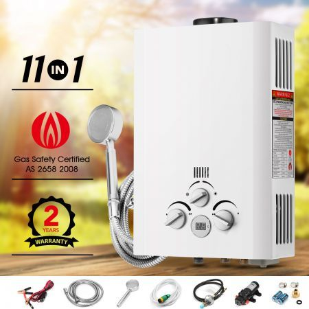 11 IN 1 Outdoor Portable Gas Water Heater for Showers