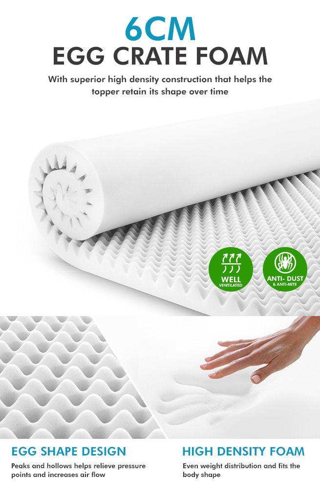 queen egg crate foam mattress topper crazy sales. Black Bedroom Furniture Sets. Home Design Ideas