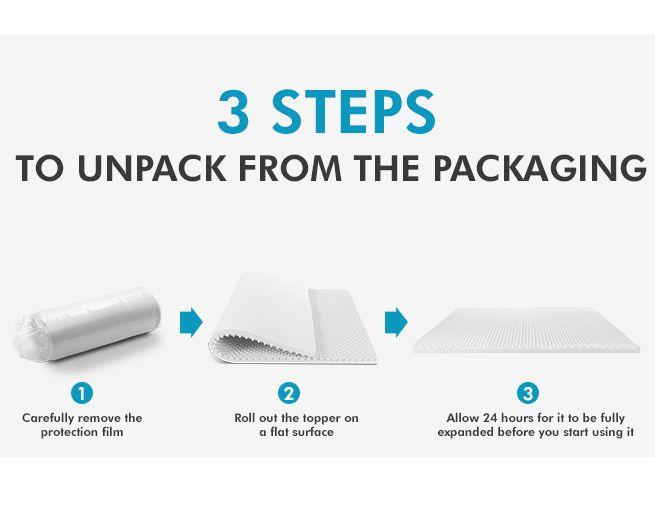Extra Firm Mattress Topper For Back Pain NEW Double Size High Density Egg Crate Foam Mattress ...