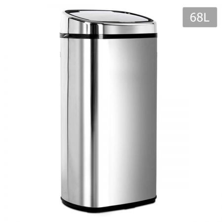 Stainless Steel Motion Sensor Rubbish Bin - 68L