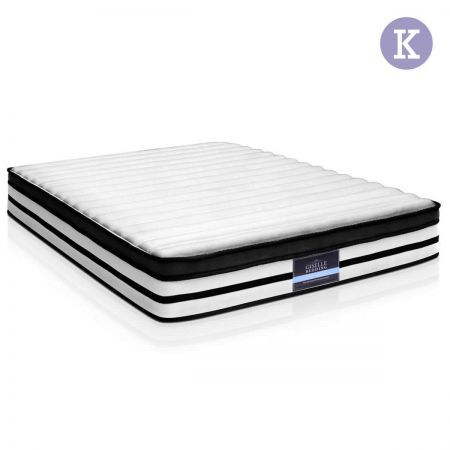 Euro Top Mattress 5 Zone Pocket Spring High Density Foam - King