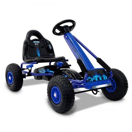 Kids Pedal Go Kart Powered Racing Ride on Toy - Blue