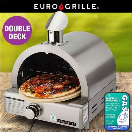 Euro-Grille Portable Stainless Steel Gas Pizza Oven