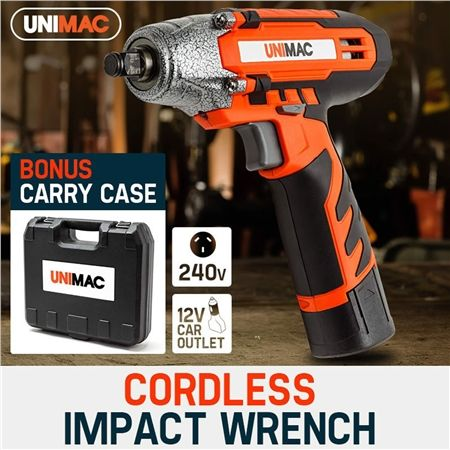 Unimac 12 Volt Lithium-Ion Cordless Impact Wrench