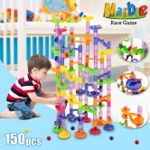 150 Pcs DIY Marbles Roll Ball Creative Building Toy Playset