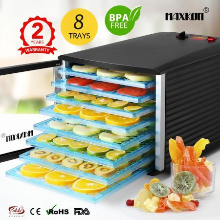 8 Tray High Powered Food Dehydrator for Business and Home Use