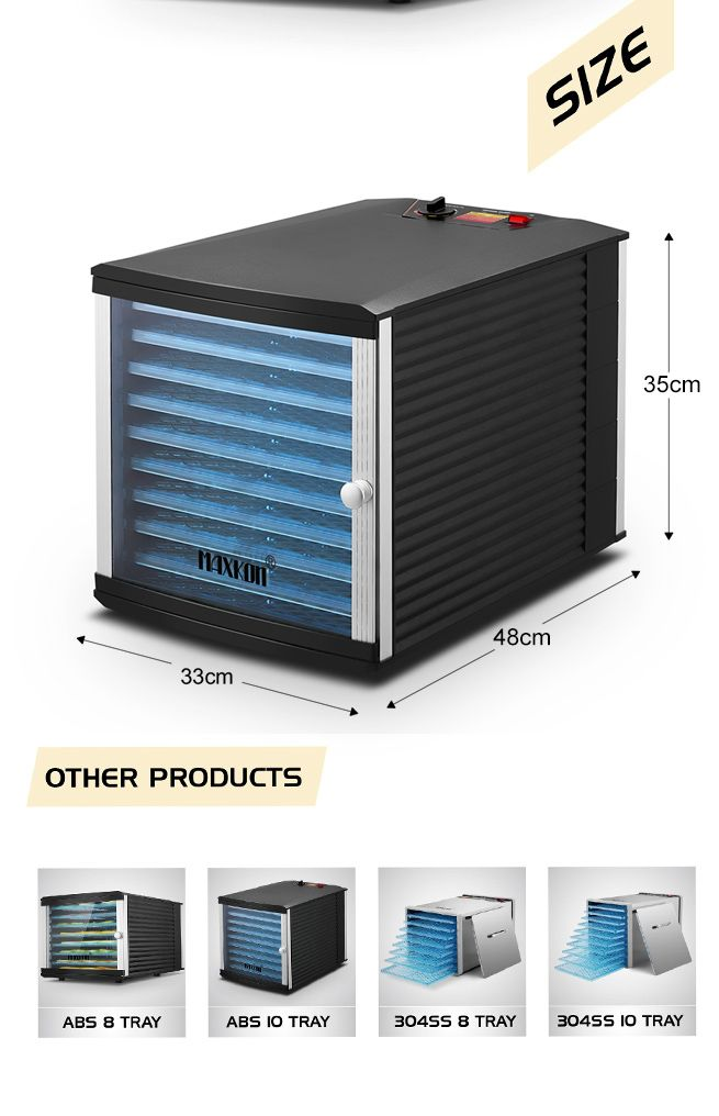 10 Tray High Powered Food Dehydrator for Business and Home Use
