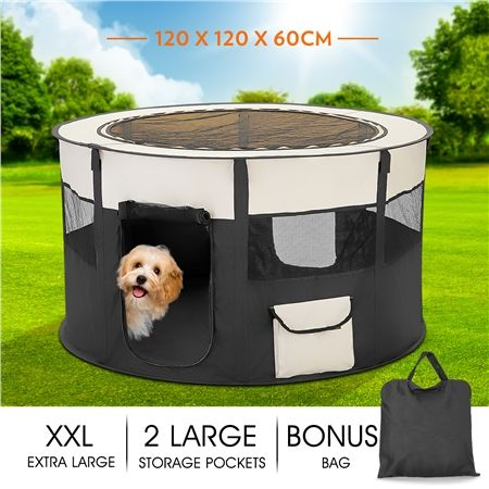 NEW Extra Large Soft Pet Play Pen for Indoors and Outdoors