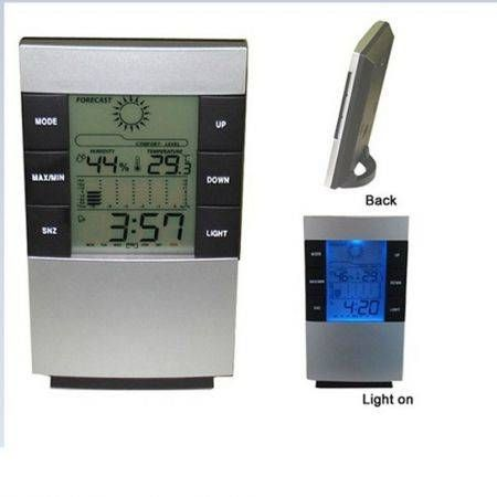 LCD digital hygrometer weather alarm clock