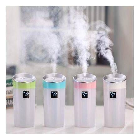 300ML Ultrasonic Humidifier USB Car Humidifier  Air Purifier Mist Maker 2 Mist Modes Green