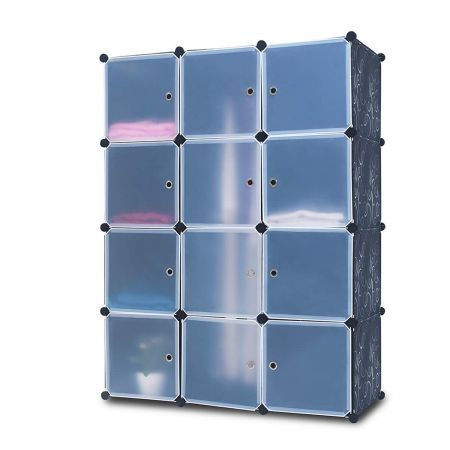 12 cube multi storage combo cabinet shelves shoe rack cupboard wardrobe