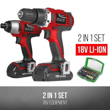 matrix 18v li ion cordless drill impact driver batteries. Black Bedroom Furniture Sets. Home Design Ideas