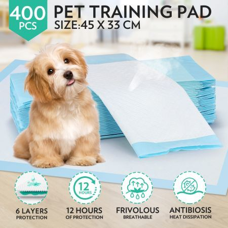 Tear Resistant Absorbent Anti Bacterial Pet Training Pads x2