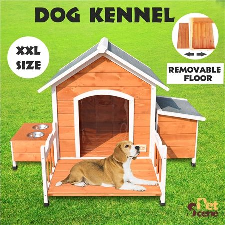 xxl luxury wooden dog house with removable porch floor crazy sales. Black Bedroom Furniture Sets. Home Design Ideas