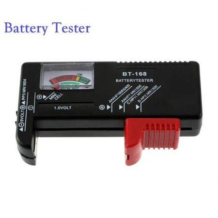 AA/AAA/C/D/9V/1.5V Universal Button Cell Battery Volt Tester Checker