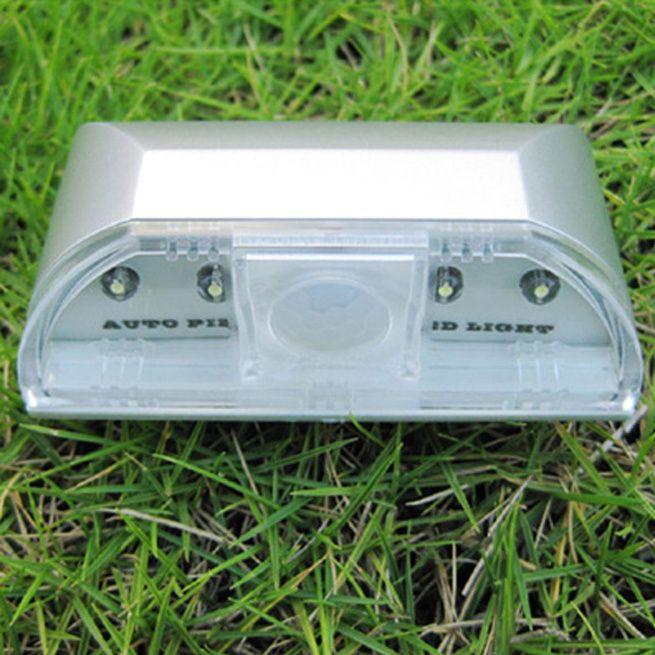 Wireless 4 Led Pir Auto Motion Sensor Detector Door
