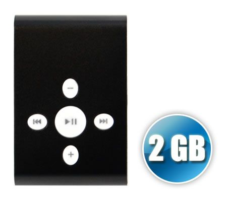 2GB Mini MP3 Portable Music Player - Black