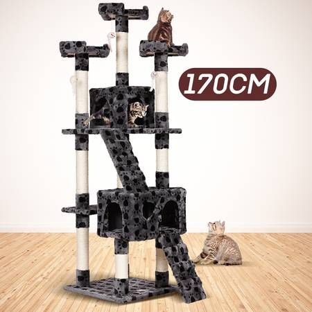 170cm Cat Tree Gym House and Scratcher Pole with Toy