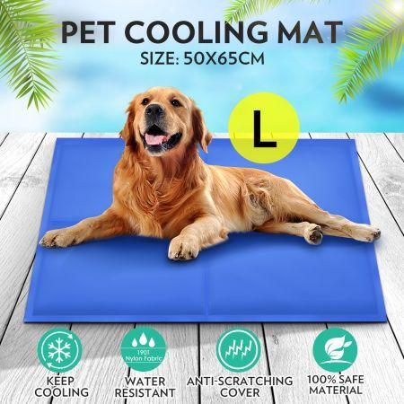 pet self cooling gel mat bed large crazy sales. Black Bedroom Furniture Sets. Home Design Ideas